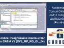 CATIA V5 Curs online: Programarea macro-urilor