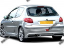 Prelungire splitter bara spate Peugeot 206 2003-2009 v2