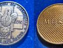 1225-Medalie Crucea Rosie Belgiana BR comemorare 50 an bronz