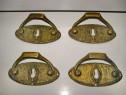 2811- Shielduri vechi cu maner bronz groase 4 bucati.