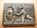 4267- Placheta reclama Griffin Merxem veche anii 1920. Metal