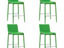 Scaune de bar, 4 buc., verde, piele ecologică 279687