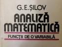 G. E. Silov - Analiza matematica. Functii de o variabila