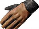Manusi moto din piele perforata – cu protectii – Black Freed