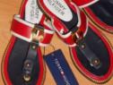 Slapi/papuci Tommy Hilfiger new model logo metalic auriu