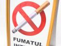 """Tablou A4 """"fumatul interzis"""""""