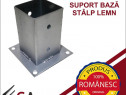 Suport, baza stalp pentru lemn - 141x180x150x2mm