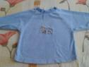 Bluza albastra groasa cu soricel si catel - 68
