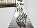 Topor gravat, 1,5 kg, coada 70 cm, model viking