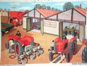 Afis didactic comunist - Repararea Masinilor Agricole