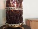 Lampa veioza lemn handmade!