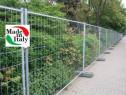 Gard pentru santier, schela metalica, popi metalici