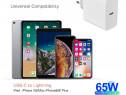 Încărcător USB-C PD 65W MacBook iPad iPhone Huawei Xiaomi
