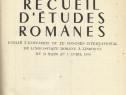Carte Recueil d'etudes romanes, filologie romanica