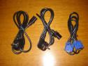 Set cabluri calculator cabluri pc alimentare si video VGA
