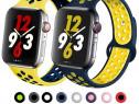 Curea Ceas Silicon Perforata - Apple Watch 38/40/42/44mm