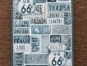 Placuta metalica Route 66 colaj numere auto vintage