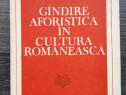 M voiculescu gandirea aforistica in cultura romaneasca