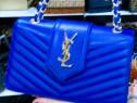 Genti firmă damă import Franta, saculet inclus logo metalic
