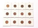 Lot 12 monede 1 leu 1992 1993 Romania colectie vechi bani st