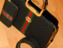 Set 3 articole Gucci new model tip office logo metalic