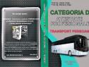 Categoria d și atestate profesionale - transport persoane