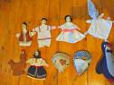 9 papusi de mana/jucarii vechi anii 1970,masti,vintage