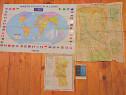 3 Harti,2 harti judet Arges vechi+Harta Politica a Lumii