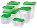 Set 17 cutii din plastic cu capac NOU.