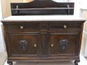 Servanta Vintage Lemn Masiv; Comoda lemn masiv cu ornamente