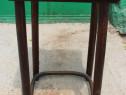 Masuta vintage Stil Thonet; Masa lemn masiv cu blat 40x40 cm