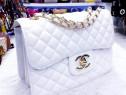Set Chanel(geanta+portofel)logo auriu,saculet inclus