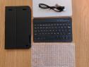 Husa cu tastatura bluetooth + cablu incarcare acumulator