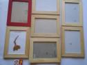 7 rame lemn pentru fotografie, gravuri, cromografii, etc. +