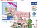 Puzzle 3D Casa roz