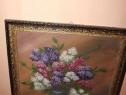 Tablou Vaza cu liliac inramat 84/69cm