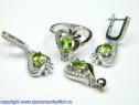 Set bijuterii argint rodiat zultanit Model ST162901