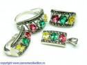 Set bijuterii argint rodiat Model ST018992