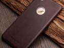 Husa piele moale vitel qialino iphone 7 fara clapeta coffee
