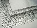 Tabla aluminiu perforata 1x1000x2000mm perforatii rotunde