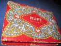 4225-Cutie ciocolata carton veche Ruff- Bombon fines.