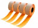 Etichete fluorescente marcator 26x12, portocaliu