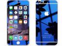 Folie sticla iphone 6 iphone 6s tuning albastru oglinda f+s