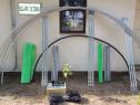 Solar metalic pentru legume si flori 6 m lungime /4 m deschi