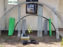 Solar metalic pentru legume si flori 8 m lungime /4 m deschi