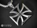 Pandantiv Crucea Malteză Crucea de Fier INOX - cod PND070
