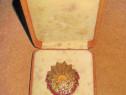 7614-Ordinul muncii clasa 3-a rsr. bronz aurit si emailat.