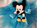 Lumanare botez ornata cu Mickey si Minnie
