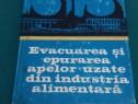 Evacuarea și epurarea apelor uzate din industria alimentară/