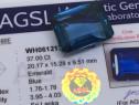 Safir magnific 37ct albastru natural Sri Lanka cu certificat